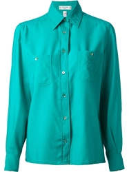 Celine Vintage Chest Pocket Shirt Green