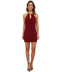 Gabriella Rocha Choker Necklace Banded Dress Wine Women's Dress Burgundy