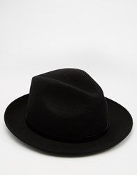 Catarzi Fedora Hat Black