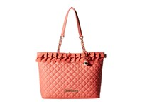 Betsey Johnson Family Ties Tote Coral Tote Handbags