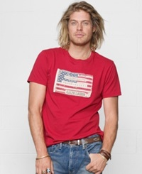 Denim And Supply Ralph Lauren Core Flag Graphic T Shirt Sailor Red