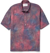 Our Legacy Tie Dye Stretch Cotton Shirt Purple