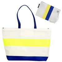 Hayden Reis Striped Ditty Tote Bag Blue And Yellow