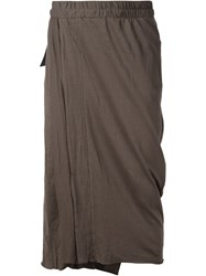 Julius Layered Cropped Trousers Grey