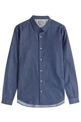 Vince Microdot Chambray Button Down Blue