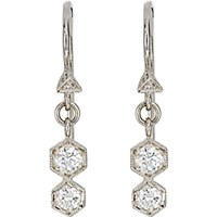 Cathy Waterman Women's Double Hexagon Drop Earrings No Color