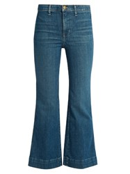 The Great Sea High Rise Flared Cropped Jeans Denim