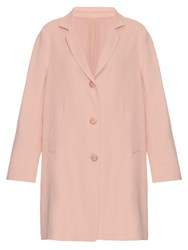 Raey Three Button Textured Crepe Coat Pink