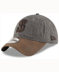 New Era Seattle Mariners Butter Tweed 9Twenty Cap Graphite Brown