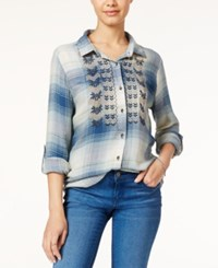 American Rag Embroidered Plaid Shirt Only At Macy's Aquifer Combo
