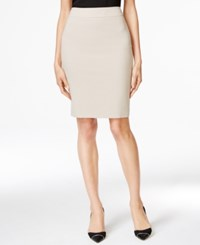 Calvin Klein Fit Solutions Pencil Skirt Only At Macy's Khaki