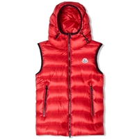 Moncler Ray Hooded Gilet Red