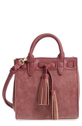 Sole Society 'Mini Ciela' Faux Leather Satchel Red Oxblood