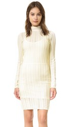 Sonia Rykiel Ladder Stitch Turtleneck Dress Ecru