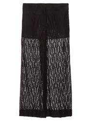 Valentino Sangallo Lace Wide Leg Trousers Black