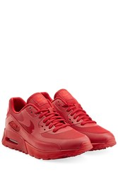 Nike Leather Mesh Air Max 90 Sneakers Red