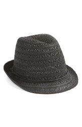 Women's Caslon Open Weave Straw Fedora