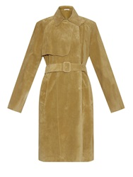 Tomas Maier Summer Suede Trench Coat