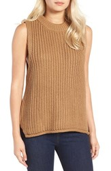 J.O.A. Women's Rib Knit Sleeveless Sweater