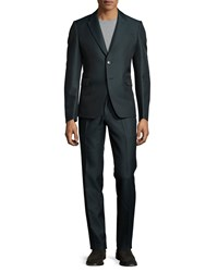 Red Valentino Notch Lapel Two Button Suit Green Men's