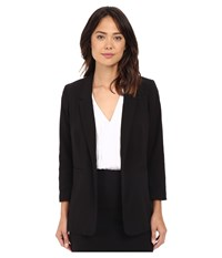 Kensie Stretch Crepe Longer Blazer Ks2k2124 Black Women's Jacket