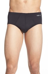 Men's Naked 'Active' Microfiber Briefs Black