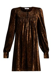 Bella Freud Marianne Velvet Dress Metal