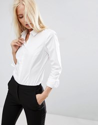 Asos Fitted White Shirt In Stretch Cotton White