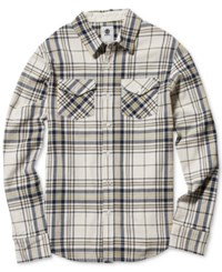 Element Men's Hawkins Plaid Shirt Concrete