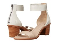 Frye Brielle Back Zip Sandal Cement Multi High Heels Beige