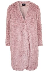 Aviation Faux Fur Coat By Goldie Pink