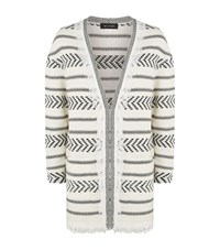 St. John Darya Fringe Trim Cardigan Female Cream