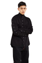 Y Project 4 Paneled Denim Turtleneck Shirt Black Denim