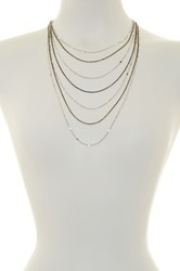 Spring Street 7 Chain Dainty Necklace Black
