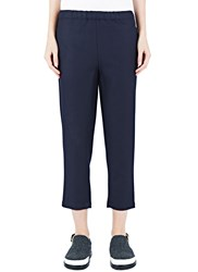 Marni Relaxed Cropped Twill Pants Navy
