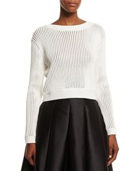 Sachin And Babi Noir Long Sleeve Ribbed Sweater Ivory