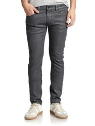 Diesel Black Gold Coated Straight Leg Jeans Grey