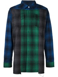 Off White Patchwork Check Shirt Multicolour