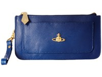 Vivienne Westwood Braccialini Pouch Card And Coin Holder Blue Credit Card Wallet