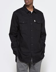 Off White Brushed Denim Shirt Black White