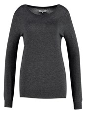 Zalando Essentials Jumper Dark Grey Mottled Dark Grey