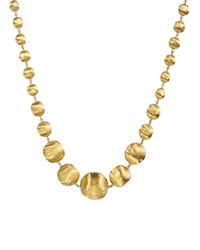 Marco Bicego 18K Yellow Gold Africa Graduated Bead Necklace 18