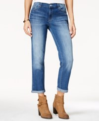 Jessica Simpson Mika Ripped Boyfriend Jeans Light Pastel Blue