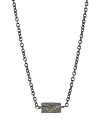 Todd Reed Oxidized Sterling Silver Necklace With Black Diamonds