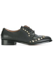 Red Valentino Star Studded Lace Up Shoes Black