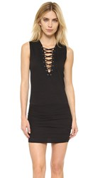 Pam And Gela Lace Up Dress Black