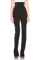 David Koma High Waisted Zip Detail Trousers In Black