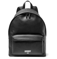 Givenchy Polished Pebble Grain Leather Backpack Black