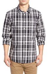 Dockersr Men's Dockers Fitted Washed Print Woven Shirt Rocky Black