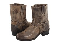 Frye Harness 8R Chocolate Vintage Leather Cowboy Boots Brown